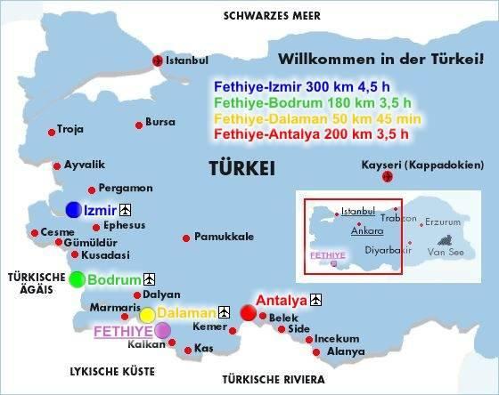 Türkische Riviera Karte.Reise Fan Renate Wolfgang Türkei